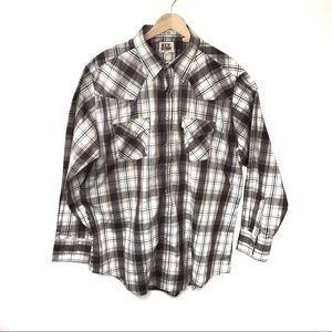 Ely Cattleman Western Style Plaid Button Down